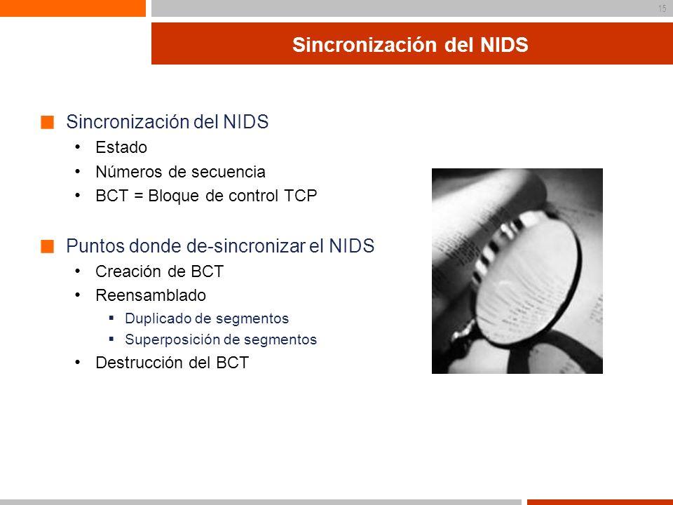 Sincronización del NIDS