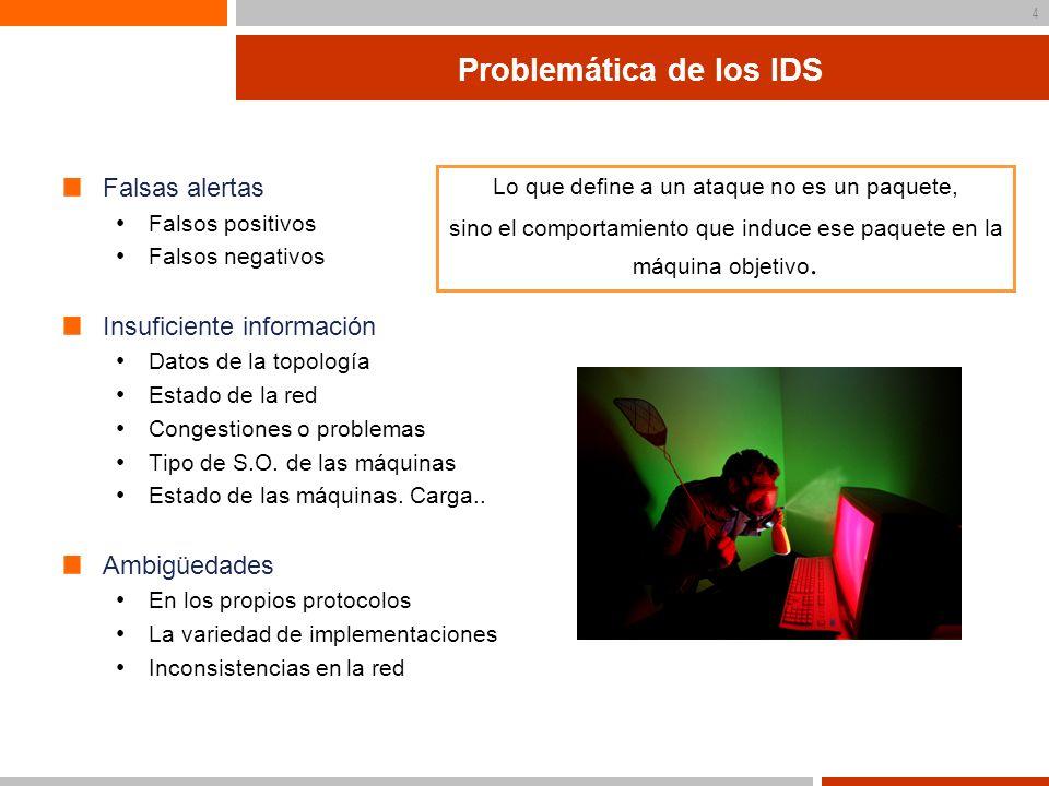 Problemática de los IDS