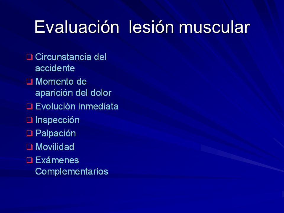 Evaluación lesión muscular