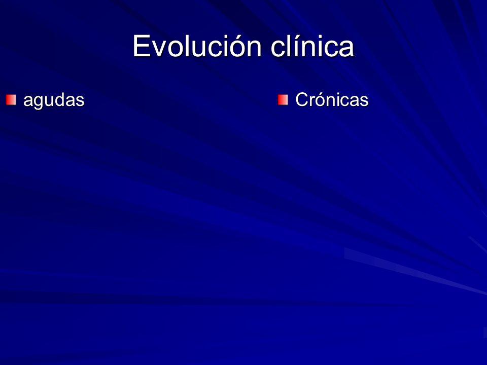 Evolución clínica agudas Crónicas