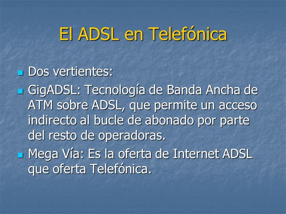 El ADSL en Telefónica Dos vertientes:
