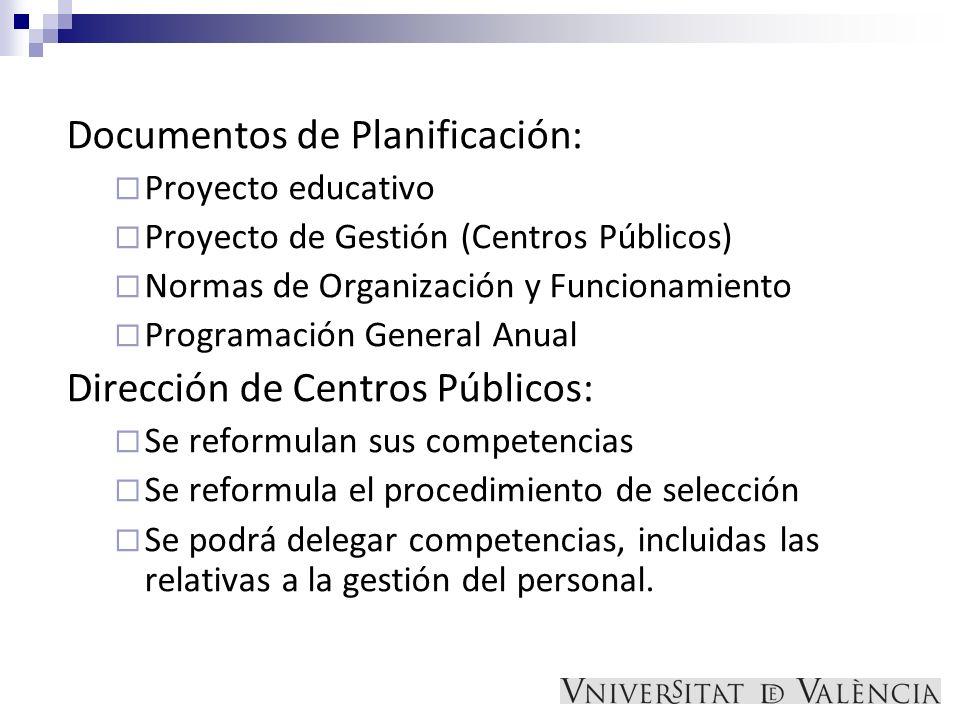 Documentos de Planificación: