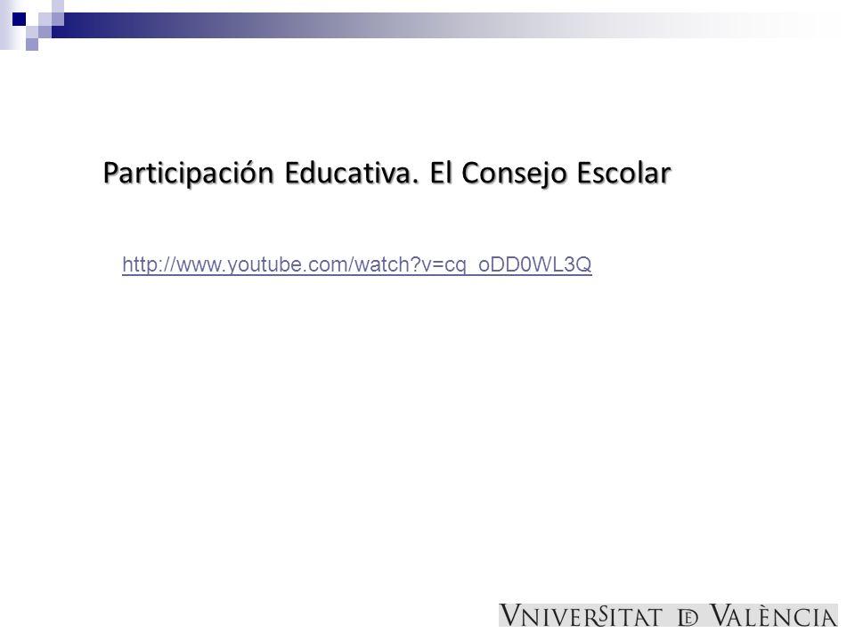 Participación Educativa. El Consejo Escolar
