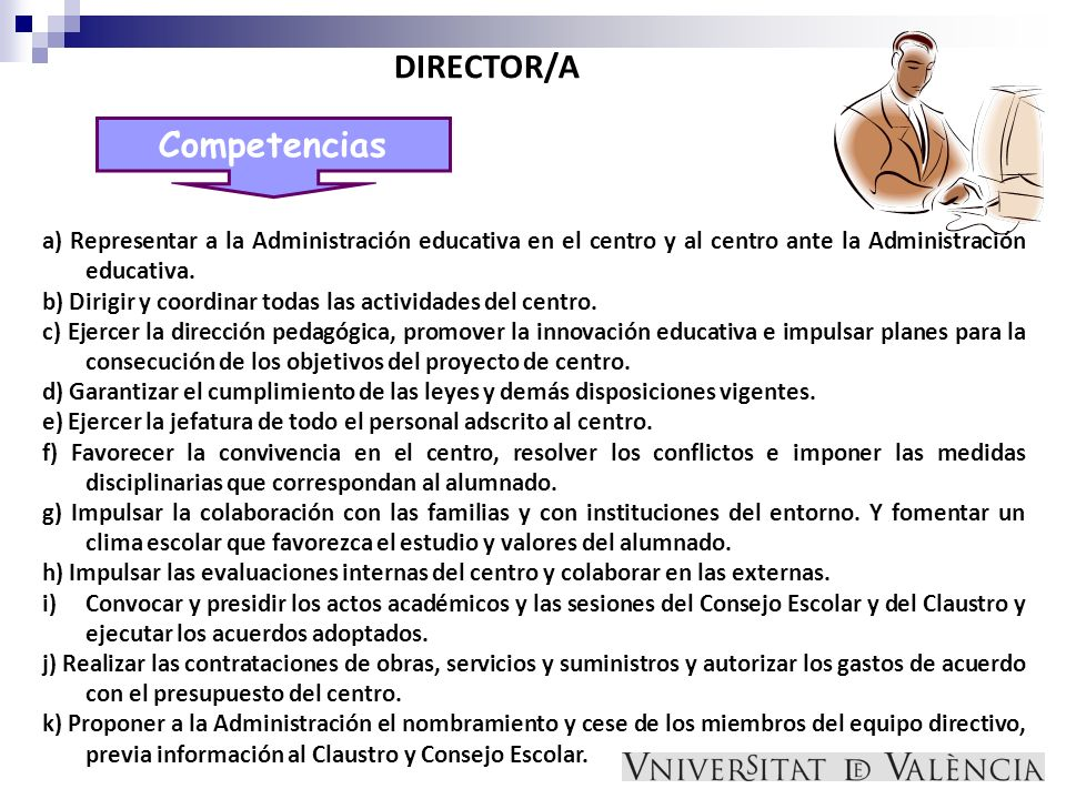 DIRECTOR/A Competencias