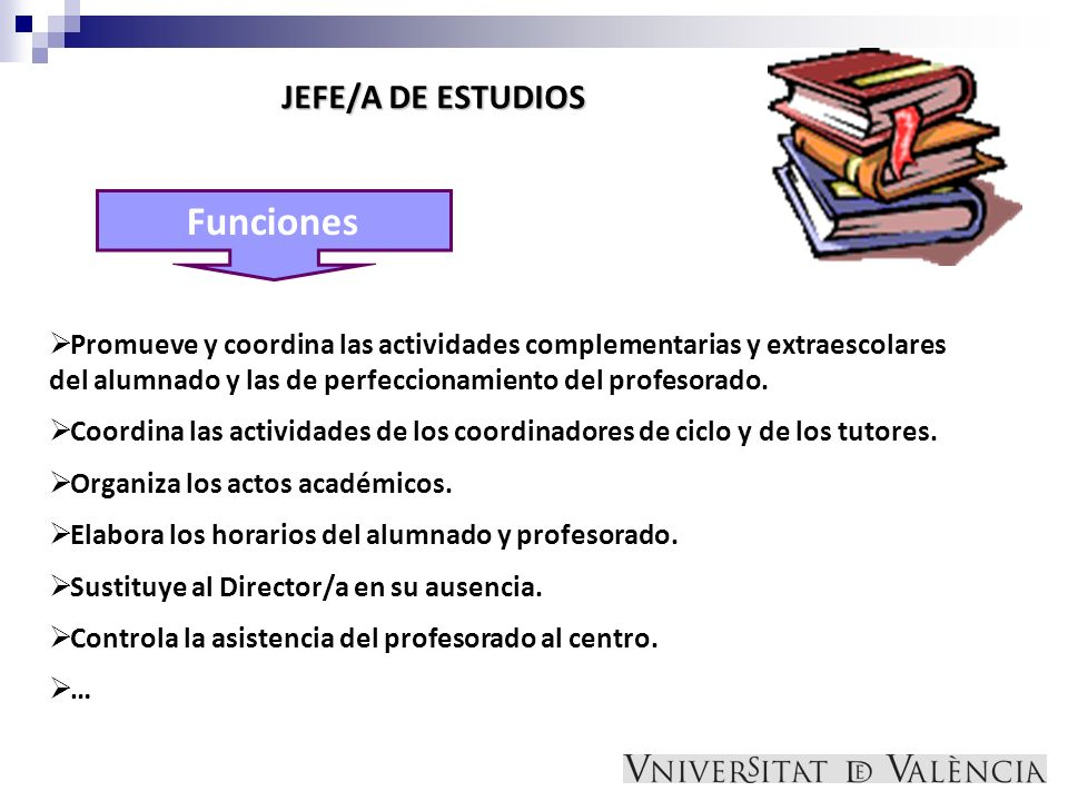 Funciones JEFE/A DE ESTUDIOS