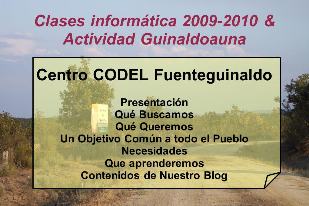 Clases informática 2009-2010 & Actividad Guinaldoauna