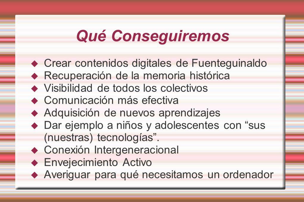 Qué Conseguiremos Crear contenidos digitales de Fuenteguinaldo