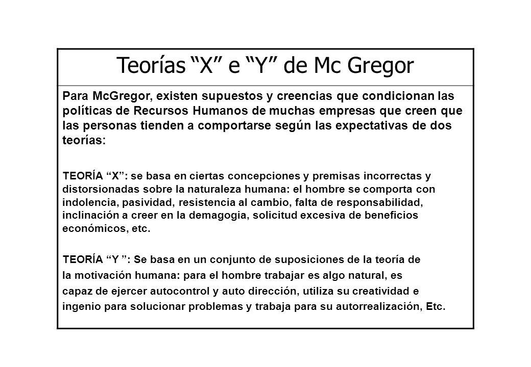 Teorías X e Y de Mc Gregor