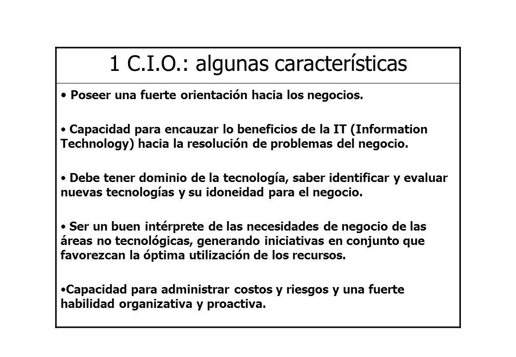 1 C.I.O.: algunas características