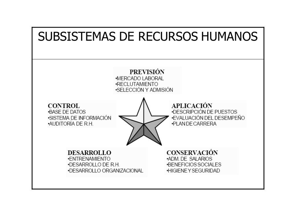 SUBSISTEMAS DE RECURSOS HUMANOS
