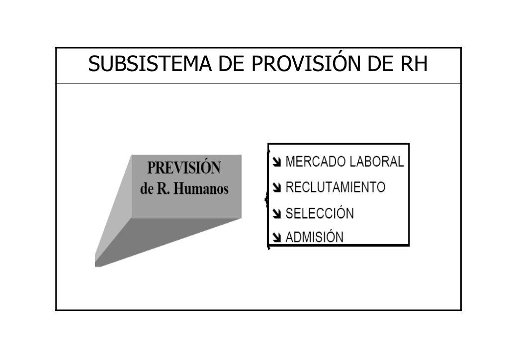 SUBSISTEMA DE PROVISIÓN DE RH