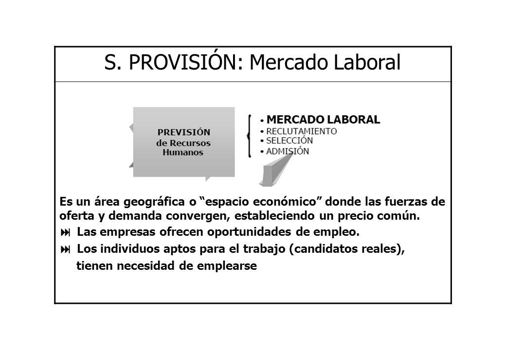 S. PROVISIÓN: Mercado Laboral