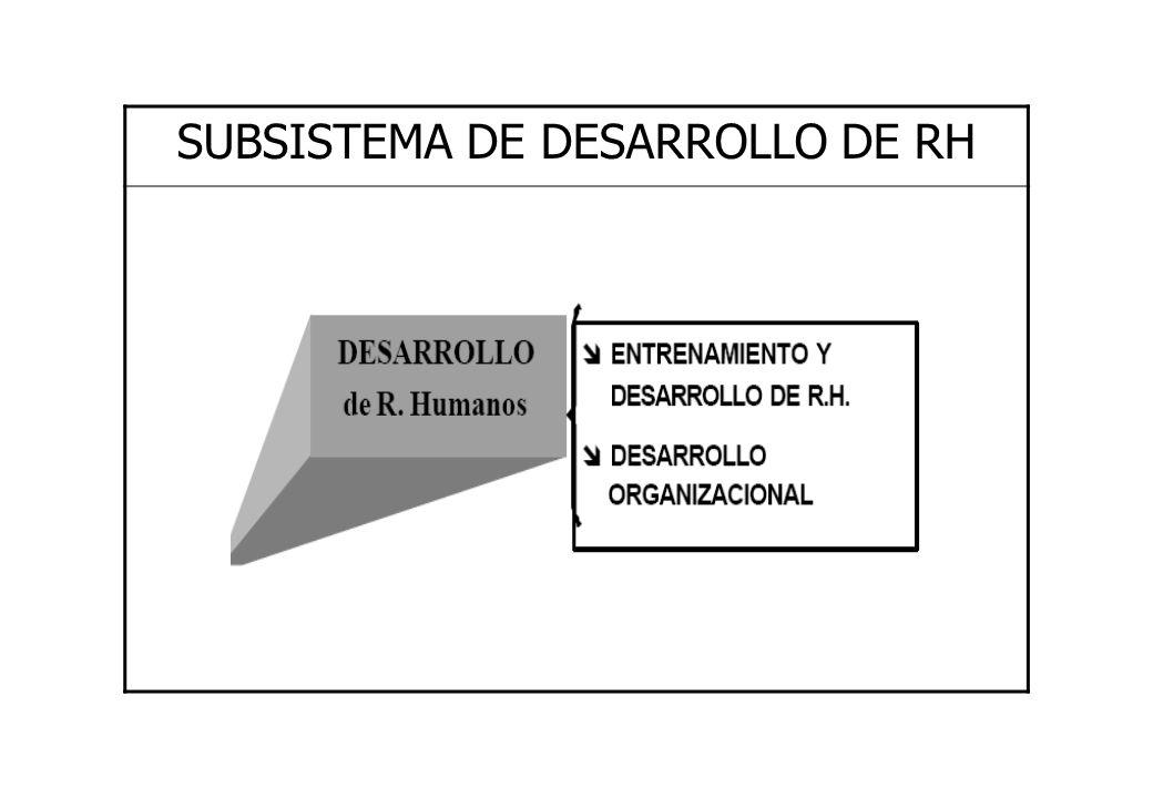 SUBSISTEMA DE DESARROLLO DE RH