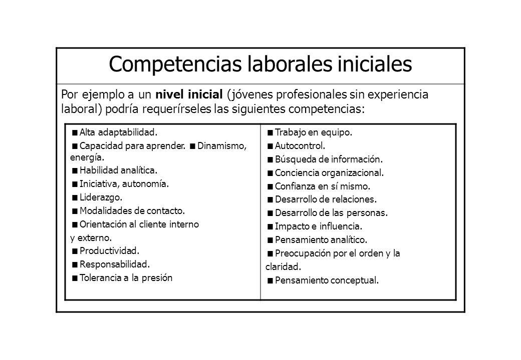 Competencias laborales iniciales