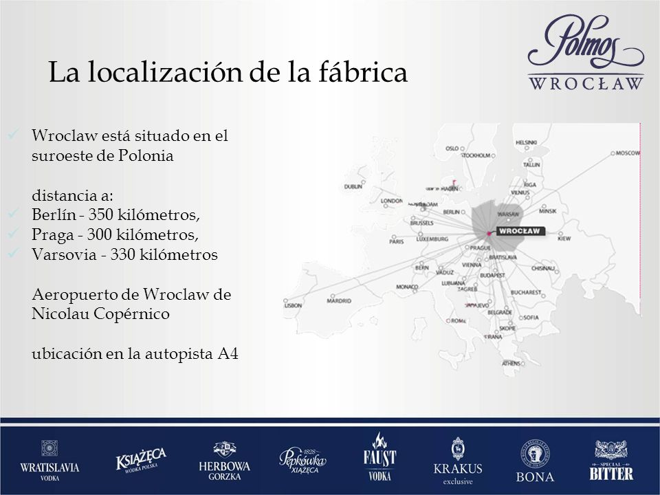 La localización de la fábrica