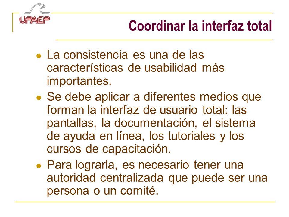 Coordinar la interfaz total