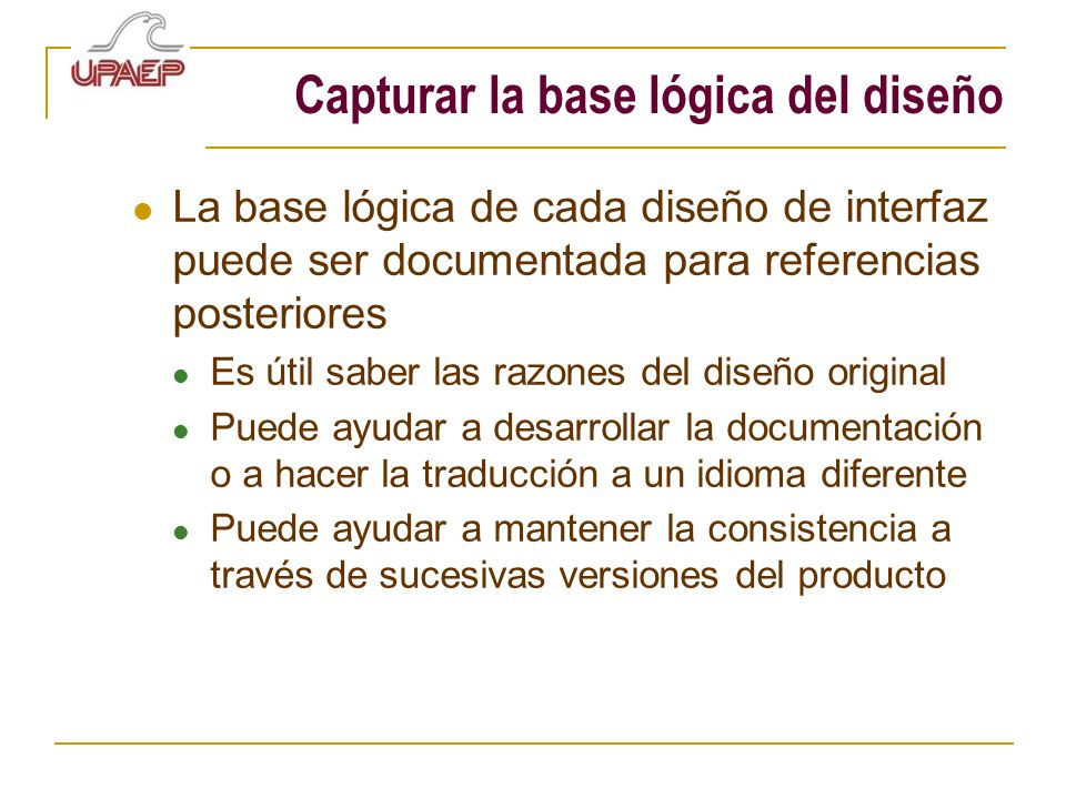 Capturar la base lógica del diseño