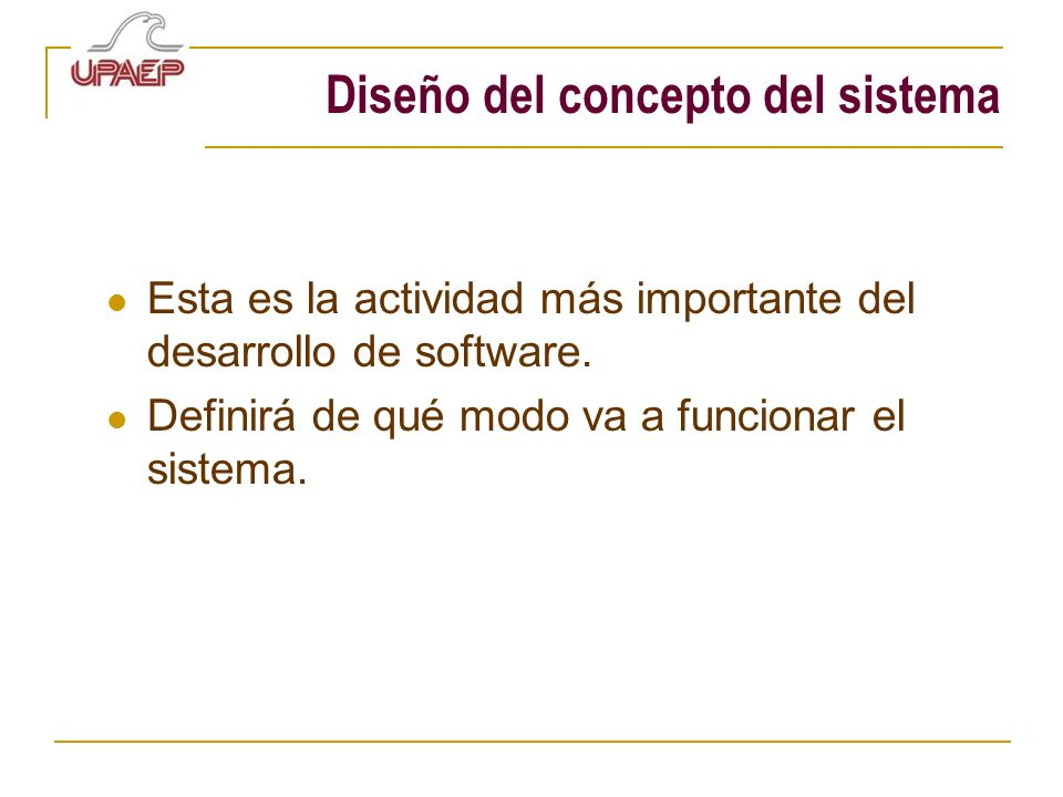 Diseño del concepto del sistema
