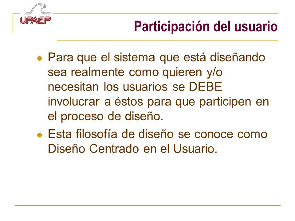 Participación del usuario