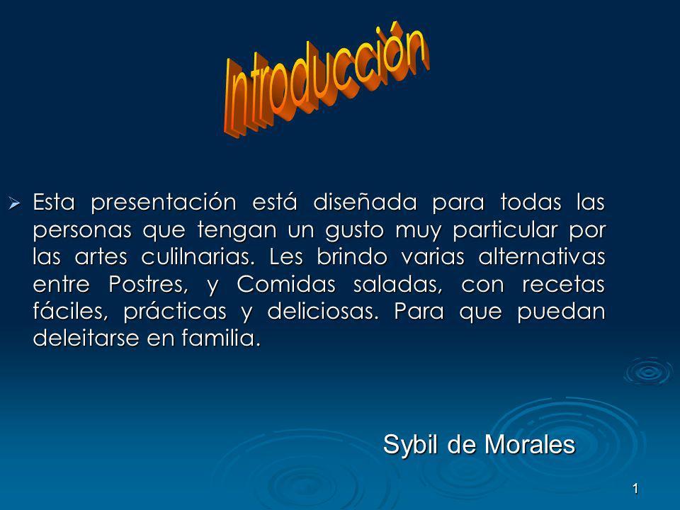 Introducción Sybil de Morales