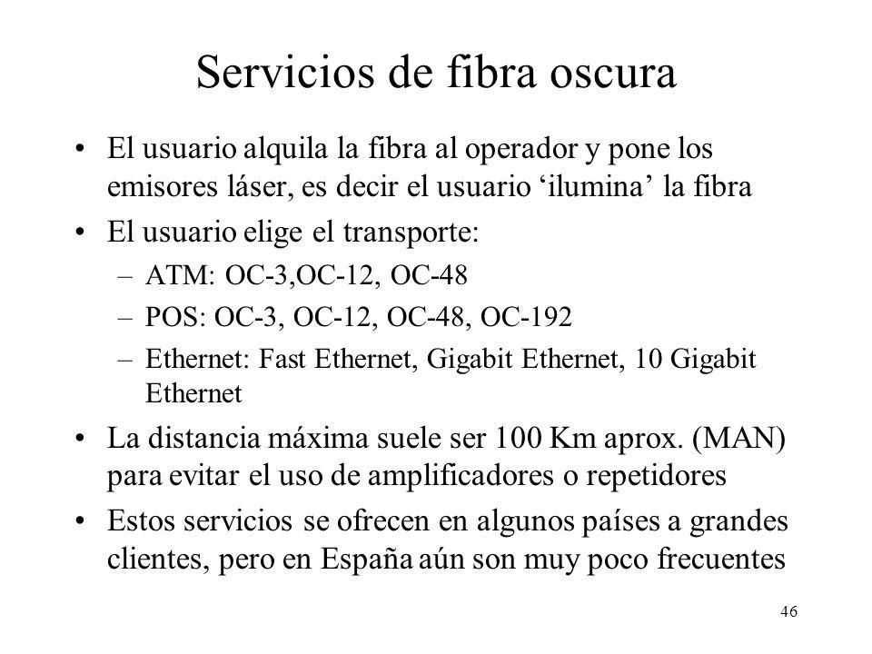 Servicios de fibra oscura