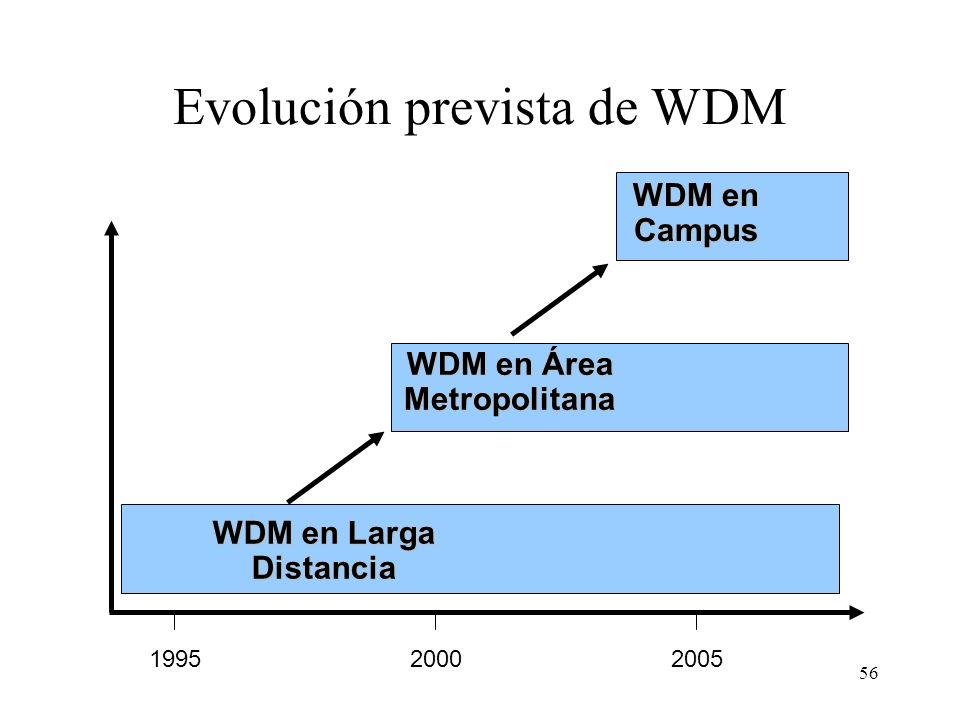 Evolución prevista de WDM