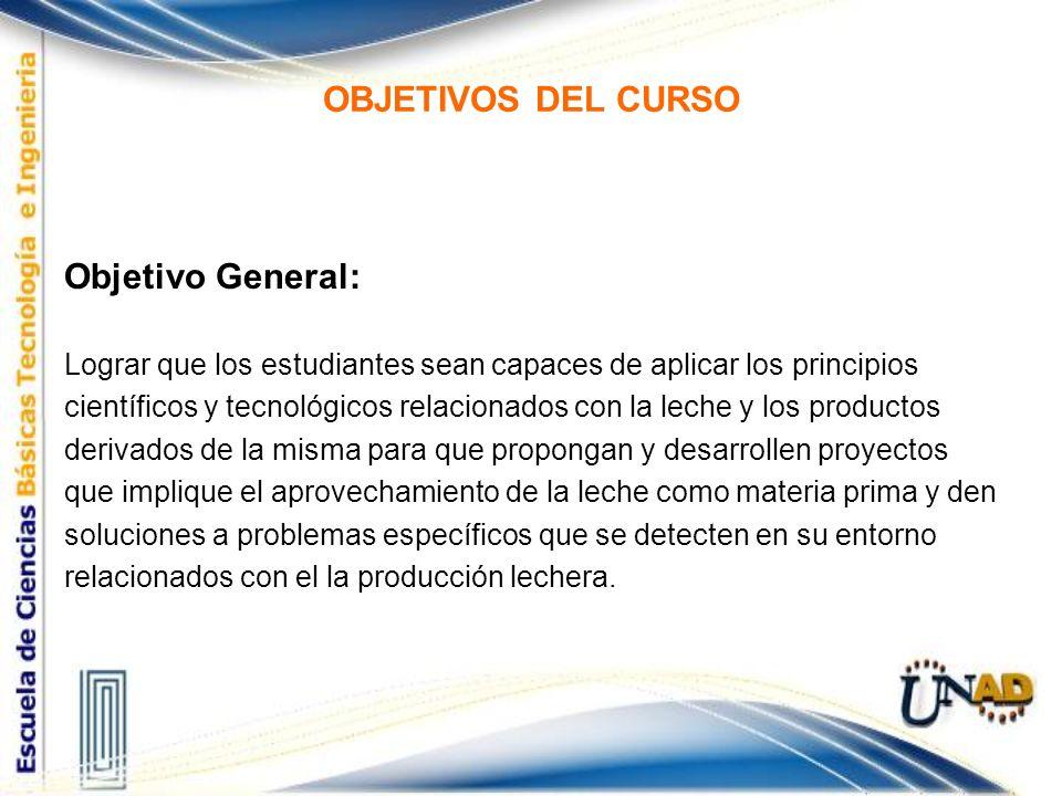 OBJETIVOS DEL CURSO Objetivo General: