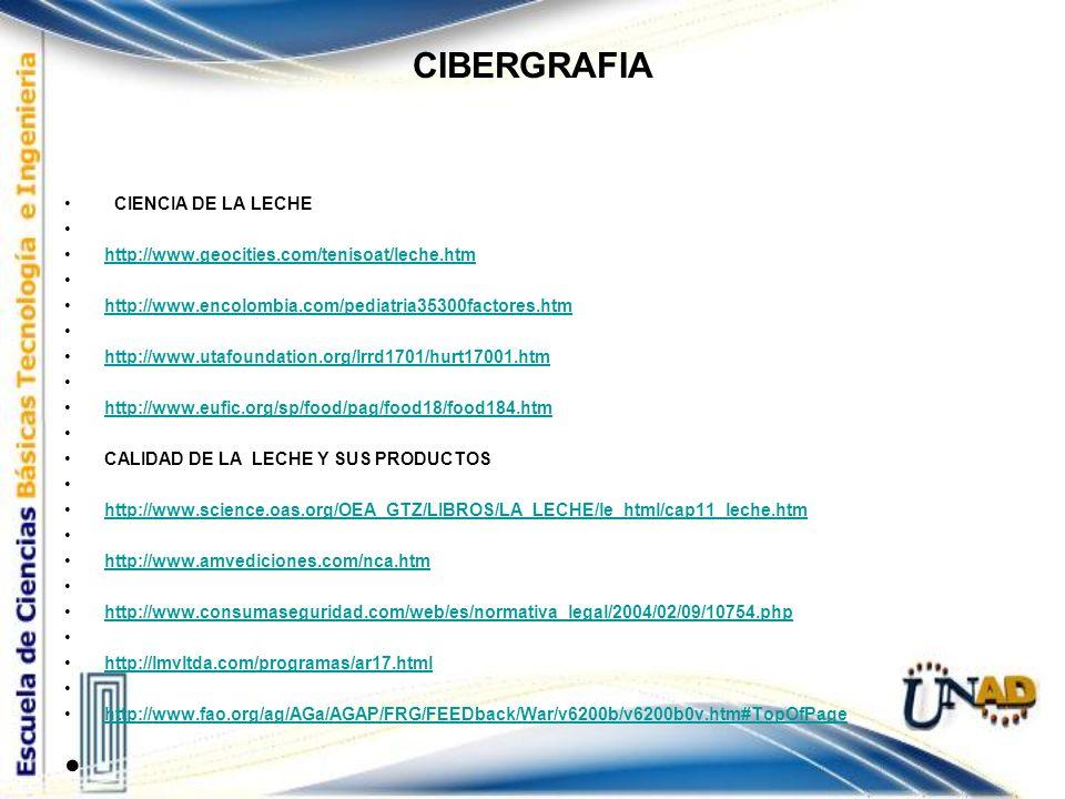 CIBERGRAFIA CIENCIA DE LA LECHE
