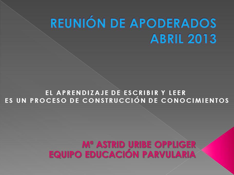 REUNIÓN DE APODERADOS ABRIL 2013