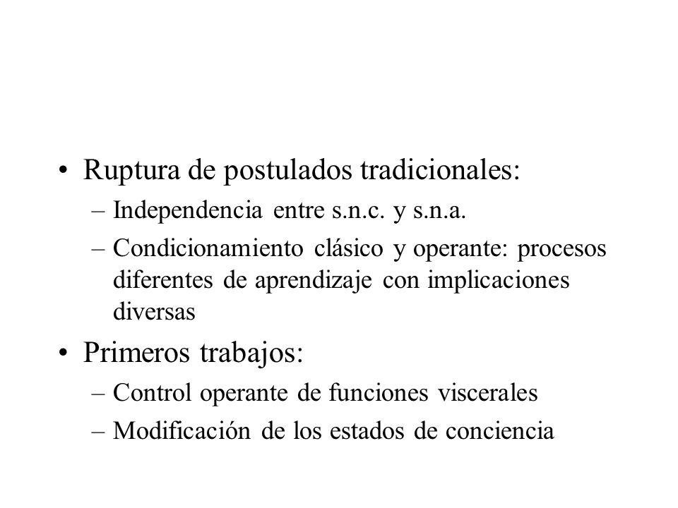 Ruptura de postulados tradicionales: