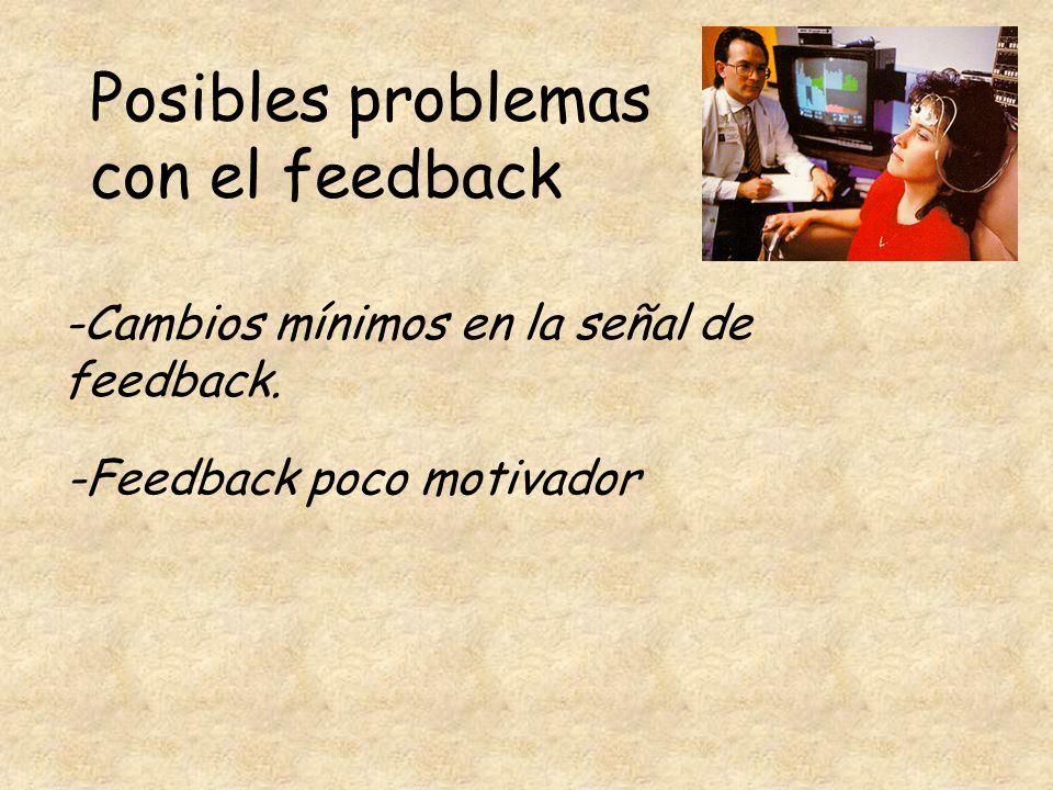 Posibles problemas con el feedback
