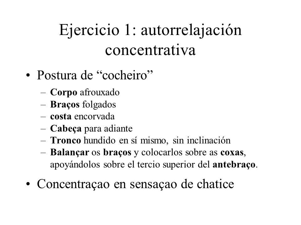 Ejercicio 1: autorrelajación concentrativa