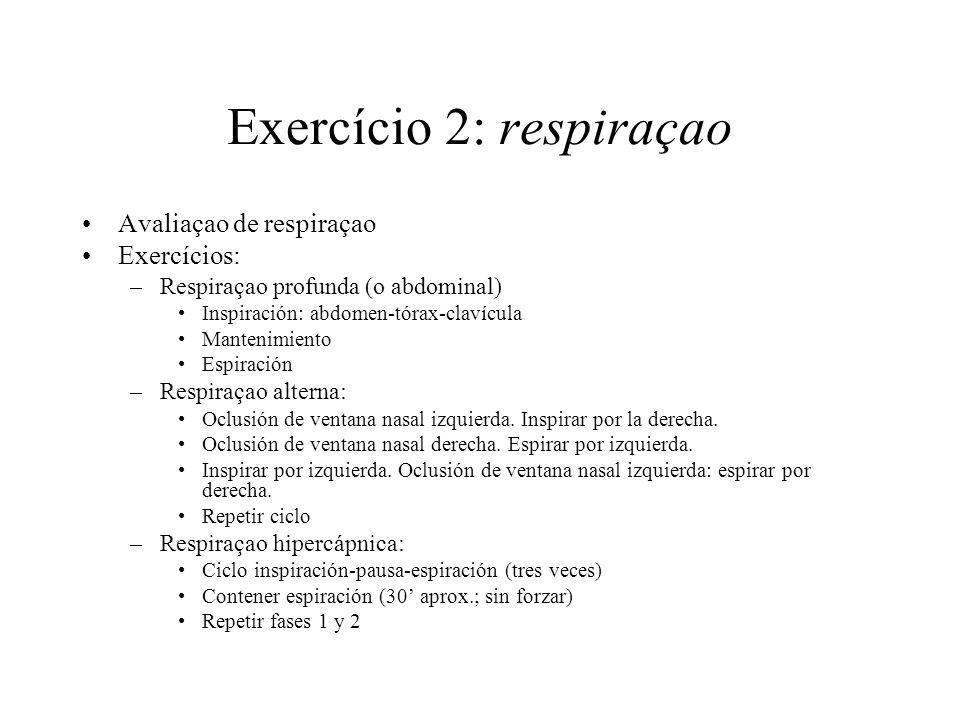 Exercício 2: respiraçao
