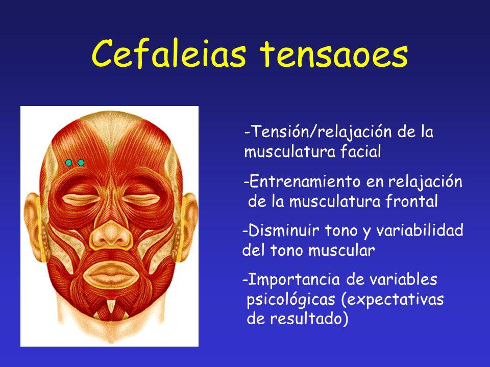 Cefaleias tensaoes -Tensión/relajación de la musculatura facial