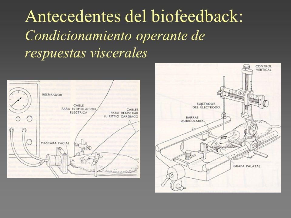 Antecedentes del biofeedback: Condicionamiento operante de respuestas viscerales