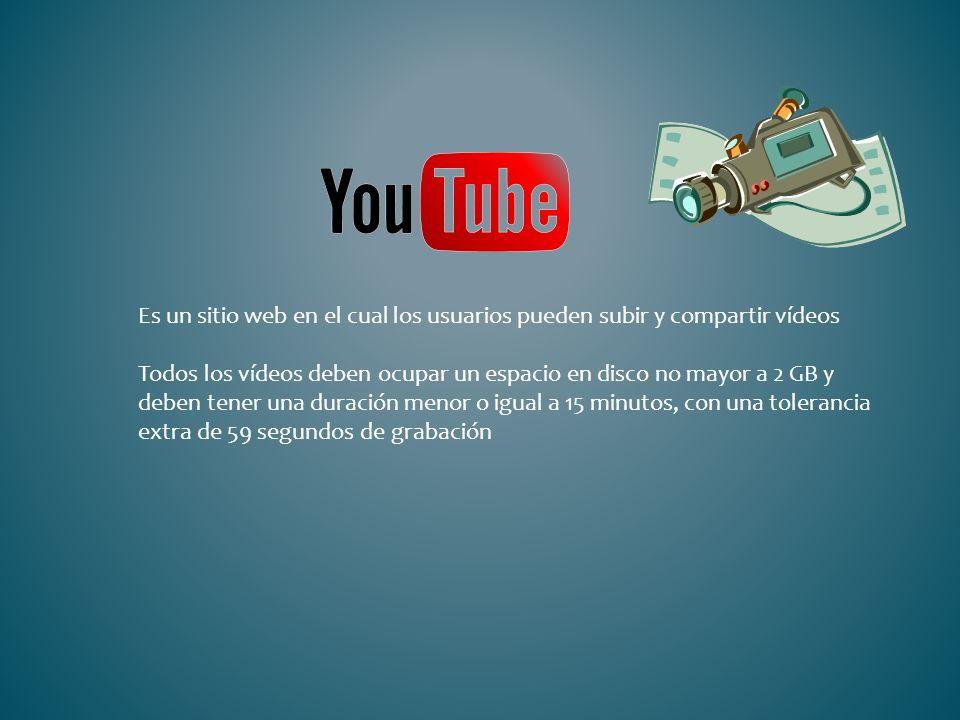 Es un sitio web en el cual los usuarios pueden subir y compartir vídeos