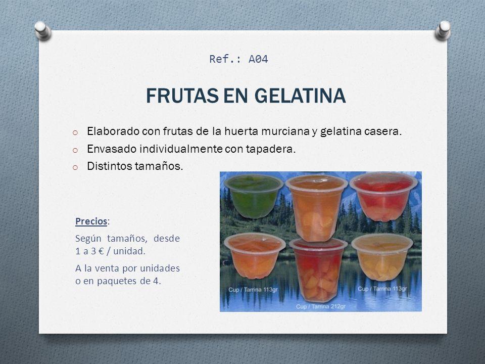 FRUTAS EN GELATINA Ref.: A04