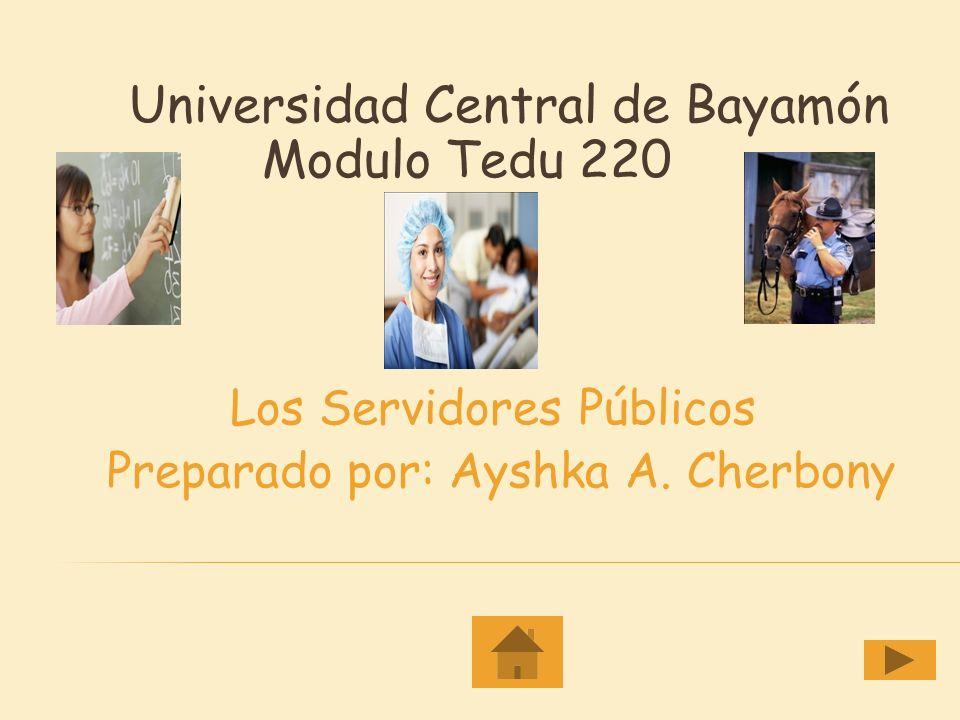 Los Servidores Públicos Preparado por: Ayshka A. Cherbony