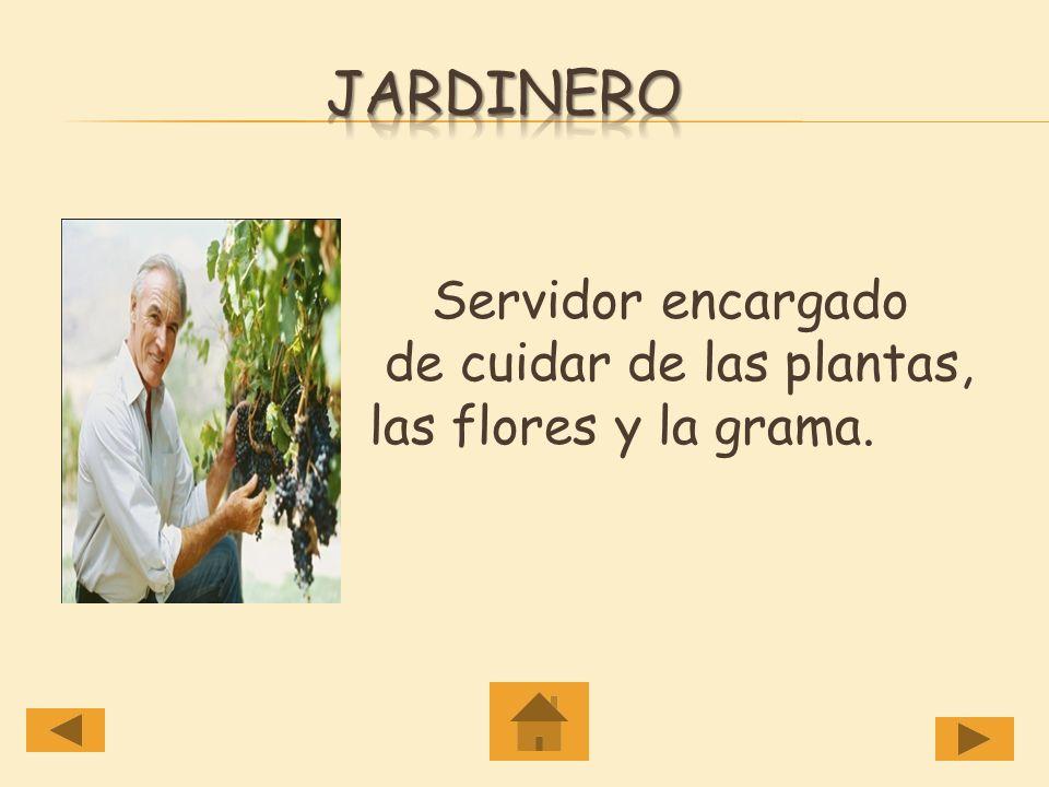 jardinero Servidor encargado