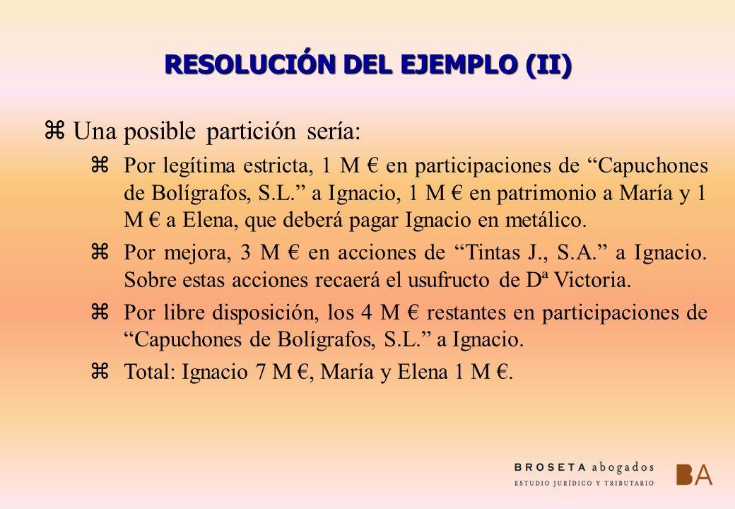 RESOLUCIÓN DEL EJEMPLO (II)