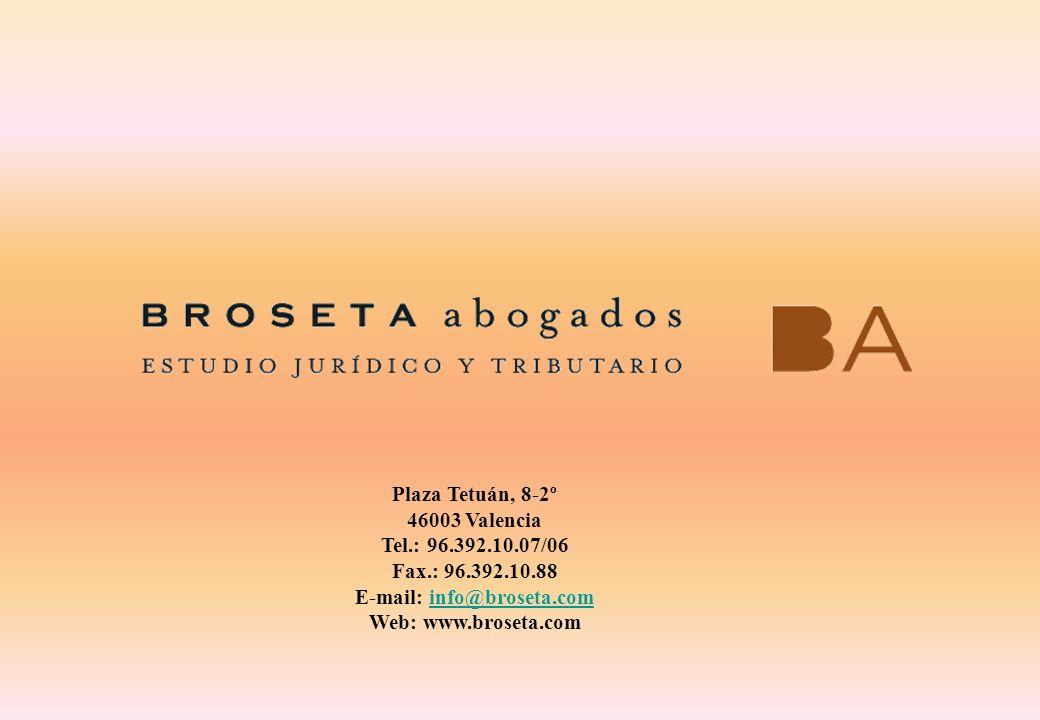 E-mail: info@broseta.com