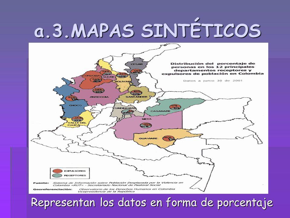 a.3.MAPAS SINTÉTICOS Representan los datos en forma de porcentaje