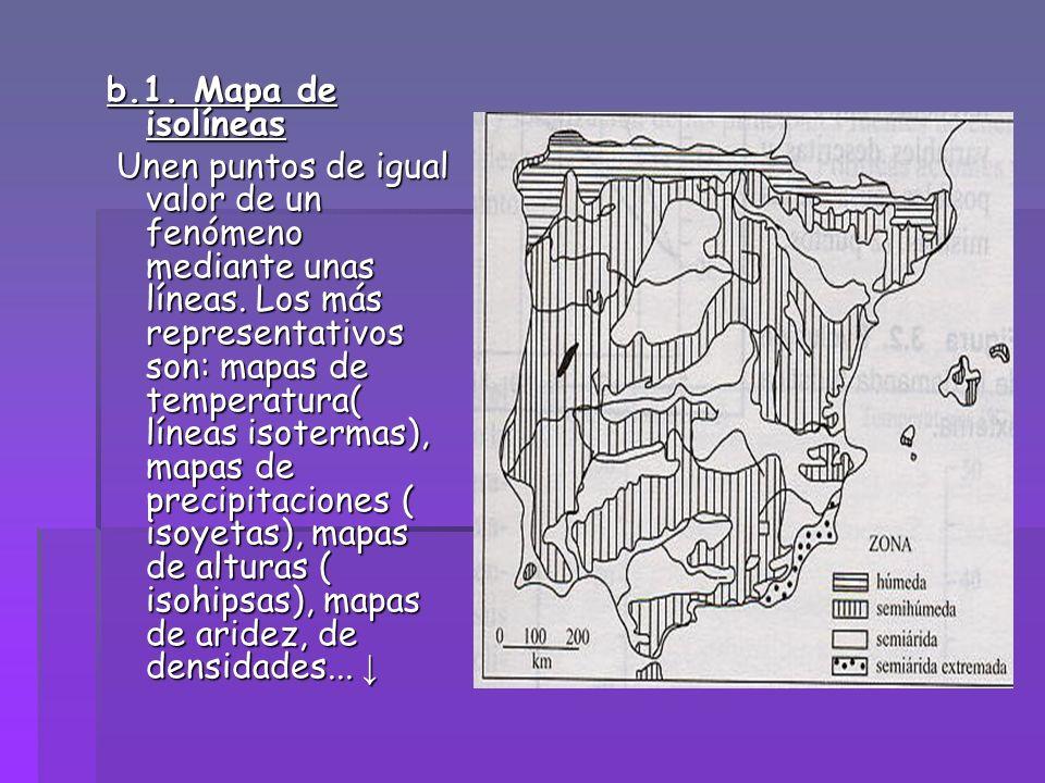 b.1. Mapa de isolíneas