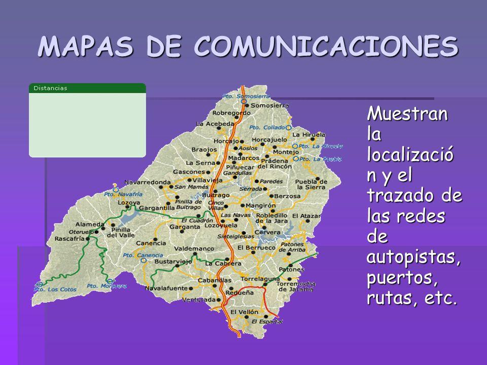 MAPAS DE COMUNICACIONES