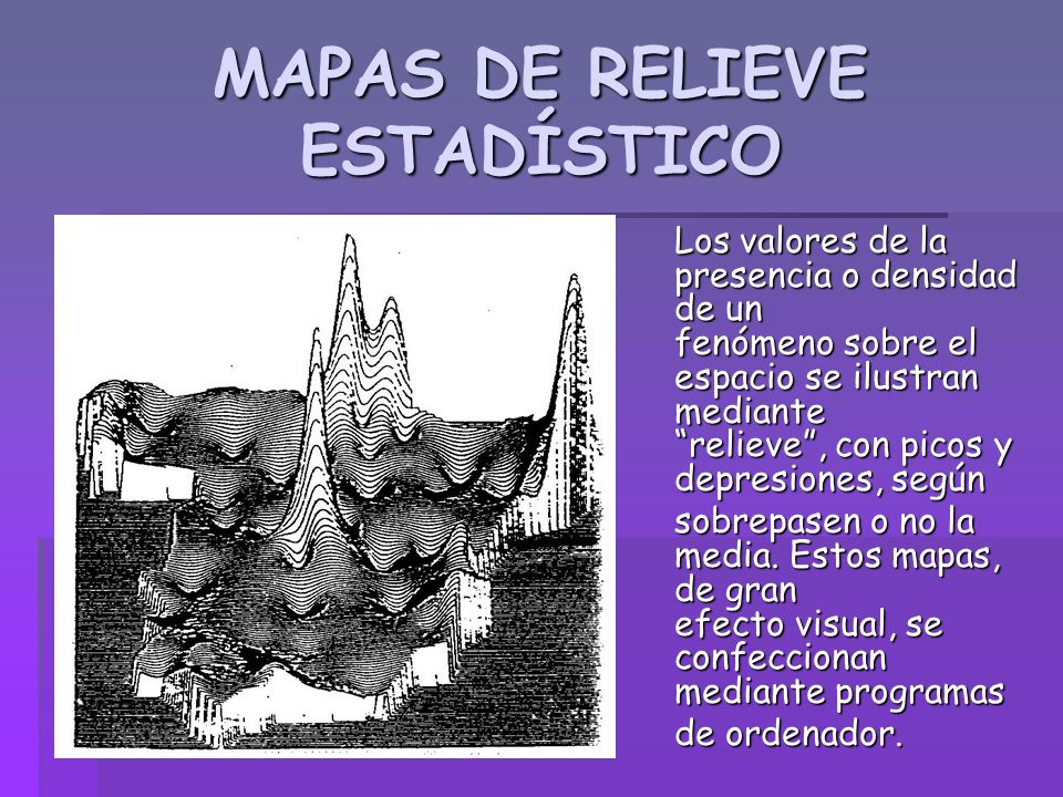MAPAS DE RELIEVE ESTADÍSTICO