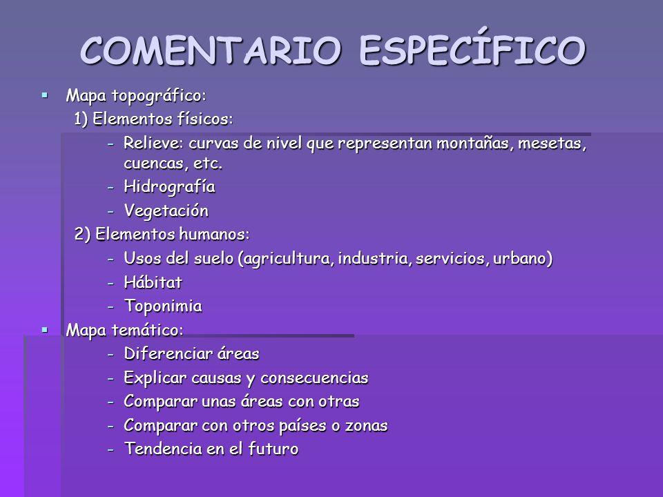 COMENTARIO ESPECÍFICO