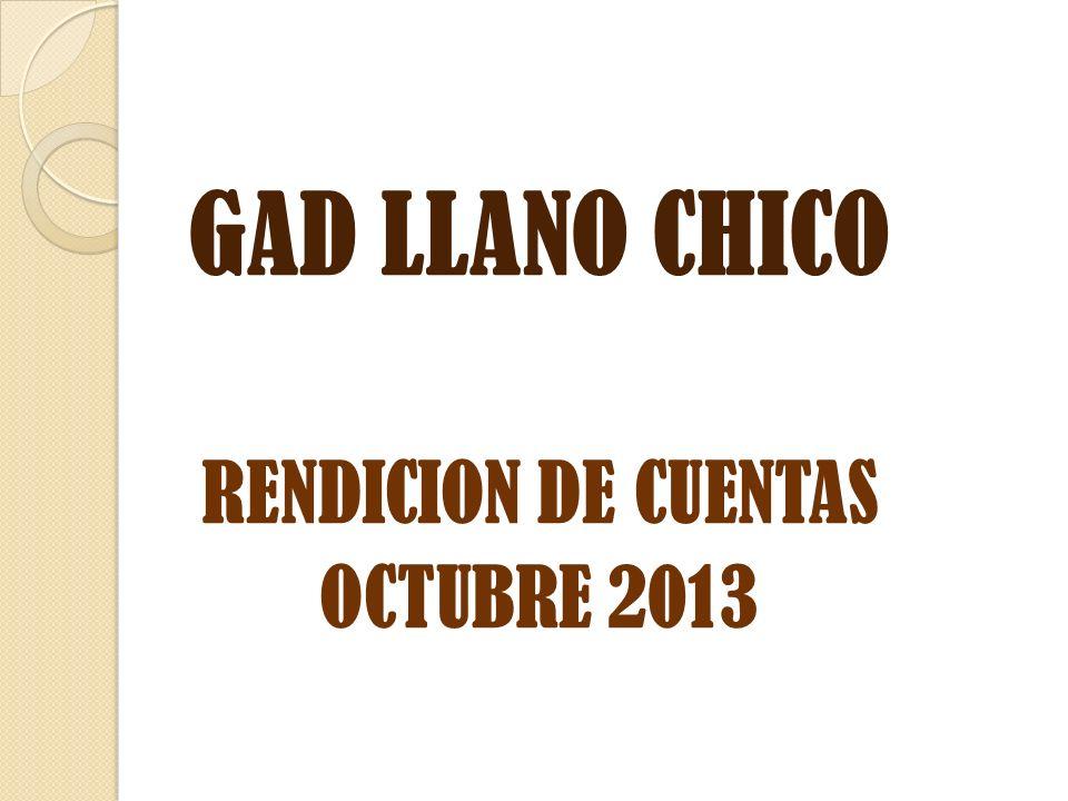 GAD LLANO CHICO RENDICION DE CUENTAS OCTUBRE 2013