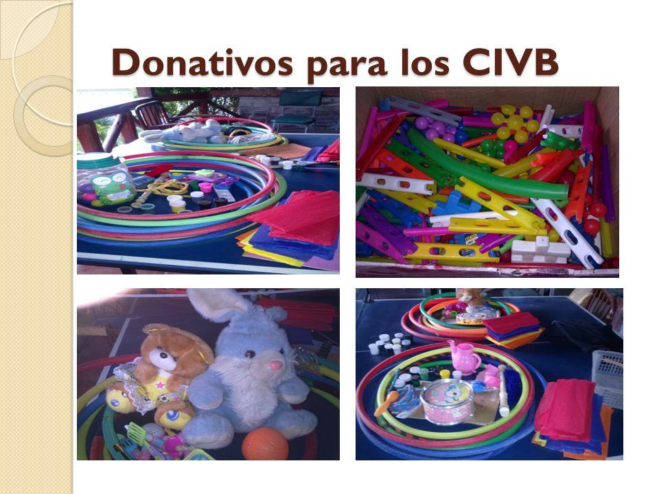 Donativos para los CIVB