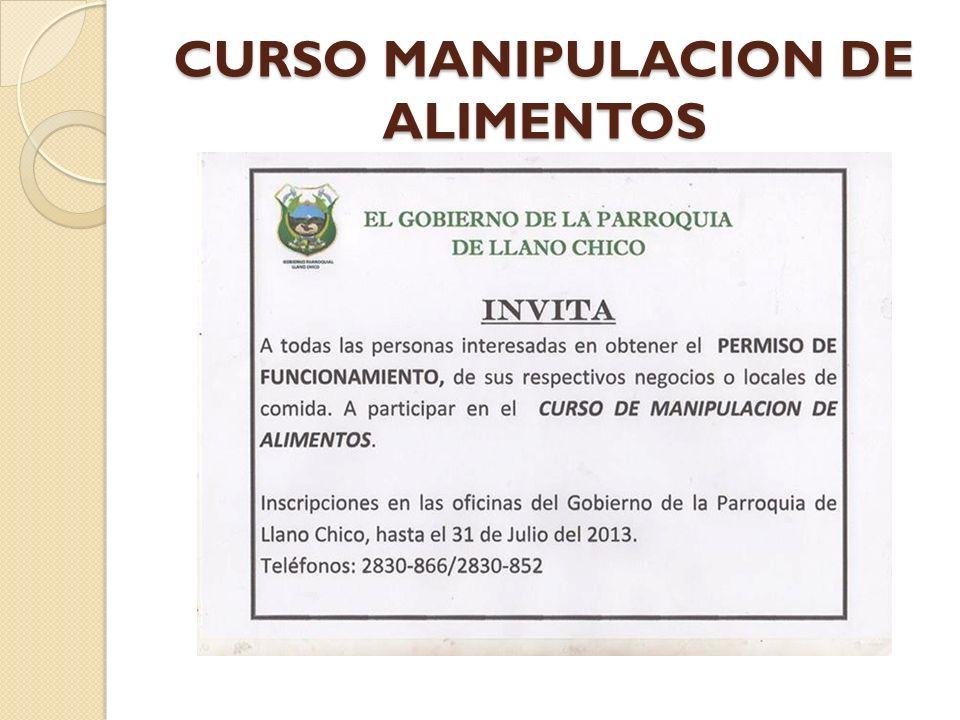 CURSO MANIPULACION DE ALIMENTOS