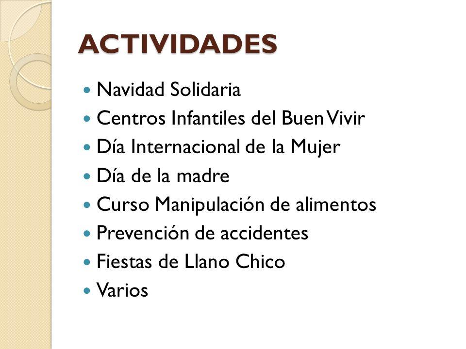 ACTIVIDADES Navidad Solidaria Centros Infantiles del Buen Vivir